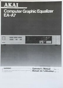 AKAI-EA-A7-Stereo-Graphic-Equalizer-EQ-USER-MANUAL-amp-SERVICE-MANUAL