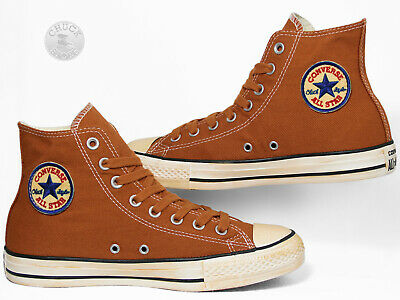 Converse All Star Chucks Hi Vintage Twill Auburn Orange Braun 144774C | eBay
