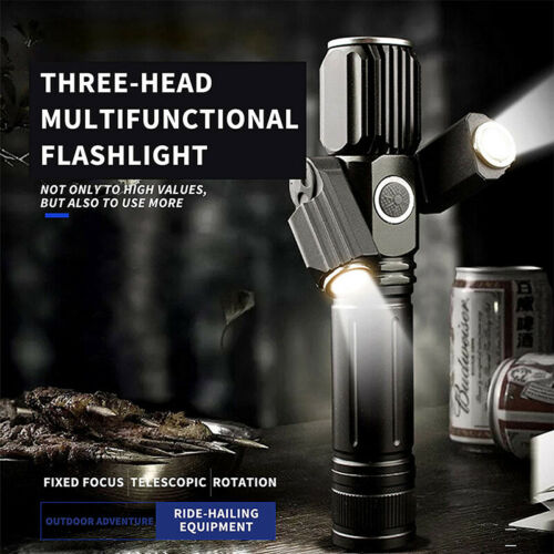 Powerful T6 Tactical LED Flashlight Torch Lantern Camping Lamp USB Rechargeable