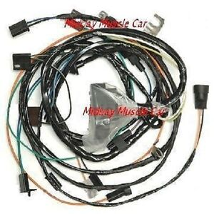 engine wiring harness 70 1970 chevy chevelle a t 350 307 400 malibu chevy starter wiring diagram image is loading engine wiring harness 70 1970 chevy chevelle a t
