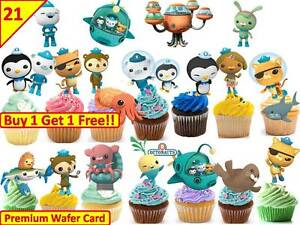 Image Is Loading 42 OCTONAUTS Birthday Cup Cake Toppers Rice Wafer