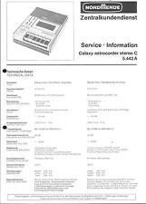 Nordmende Original Service Manual für Galaxy astrocorder stereo C  5.442A