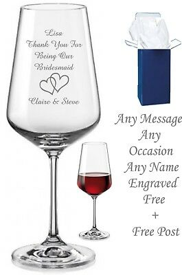 Personalised Wine Glass Engraved 18th 21st 30th 50th 60th Mum Nan Birthday Gift | eBay