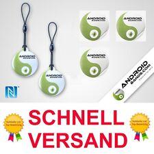 NFC Tag: 3 Aufkleber + 2 Schlüsselanhänger Smart Tags NTAG203