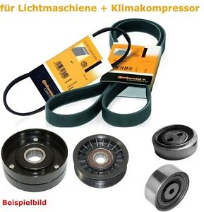 Keilrippenriemen-Satz-Spannrolle-Umlemkrolle-Audi-A4-A6-ALLROAD-2-5-TDI