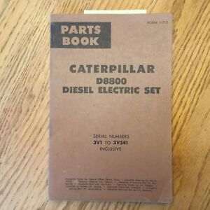 Details about CAT Caterpillar D8800 PARTS MANUAL BOOK CATALOG ENGINE  ELECTRIC SET GENERATOR 3V