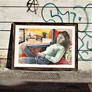 Ugo-Attardi-034-Sogna-e-riposa-034-litografia-con-ritocchi-a-mano-Prova-d-039-Artista