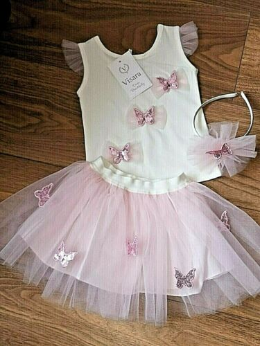 Baby Girls Visara Pink Sequined Butterfly 2 Piece Set Ages 3-5 Years  £22.99