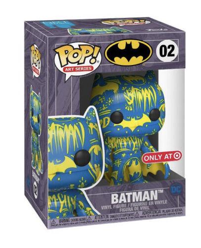 Funko Pop Batman Blue And Yellow Art Series Target Exclusive