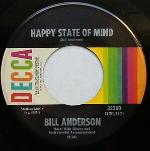 BILL-ANDERSON-Happy-State-Of-Mind-Time-039-s-Been-Good-To-Me-7-034-45rpm-Country