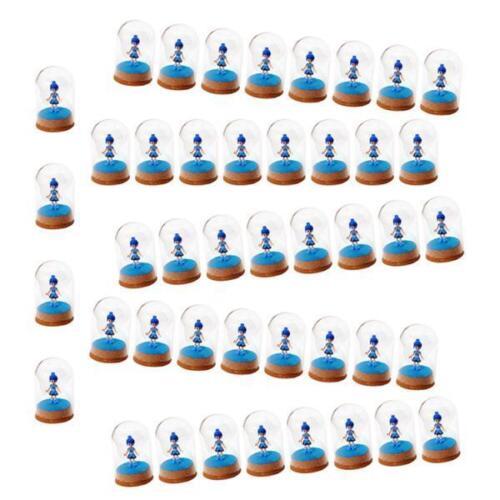 50Pcs Mini Clear Glass Hemisphere Cover Dome Cabochon Cork Tabletop Decor