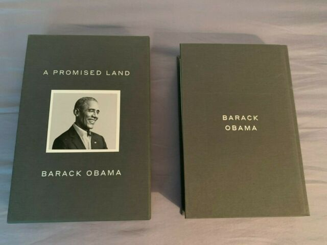1st A PROMISED LAND Deluxe Edition by Barack Obama (2020) Signed Page Removed