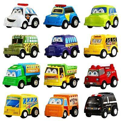 Pull Back Car Funcorn Toys Play Construction Eng 12 Pcs Mini Truck Toy Kit Set