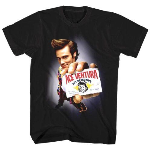 Ace Ventura Pet Detective Movie Poster Men/'s T Shirt Jim Carrey Calling Card Top