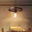 Industrial-Wheel-Ceiling-Pendant-Lampshade-Vintage-Retro-Style-Light-Fitting-UK thumbnail 8