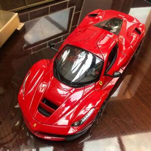 New-1-18-Bburago-Ferrari-LaFerrari-Diecast-open-close-car-model-Red-W-black-rims