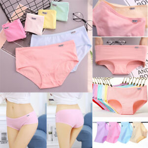 Womens-Cotton-Breathable-Stretchy-Underwear-Panties-Briefs-Knickers-Underpants