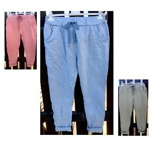 Italian-Lagenlook-Joggers-Stretch-Magic-Trousers-Lightweight-Pants-Soft-Jeggings