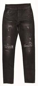 MARCELO-BURLON-Uomo-ALA-Jeans-Slim-Fit-Lavaggio-Forte-Nero-Taglia-W27