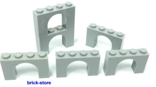 LEGO®  hellgraue 1x4x2 Bogensteine Brückensteine 6 Stück