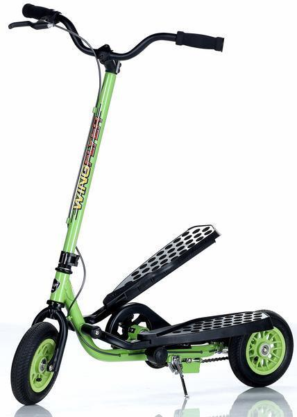 WingFlyer Zike Z100 Kids Ages 6-10 Stepper Scooter Lime Green - Free Shipping