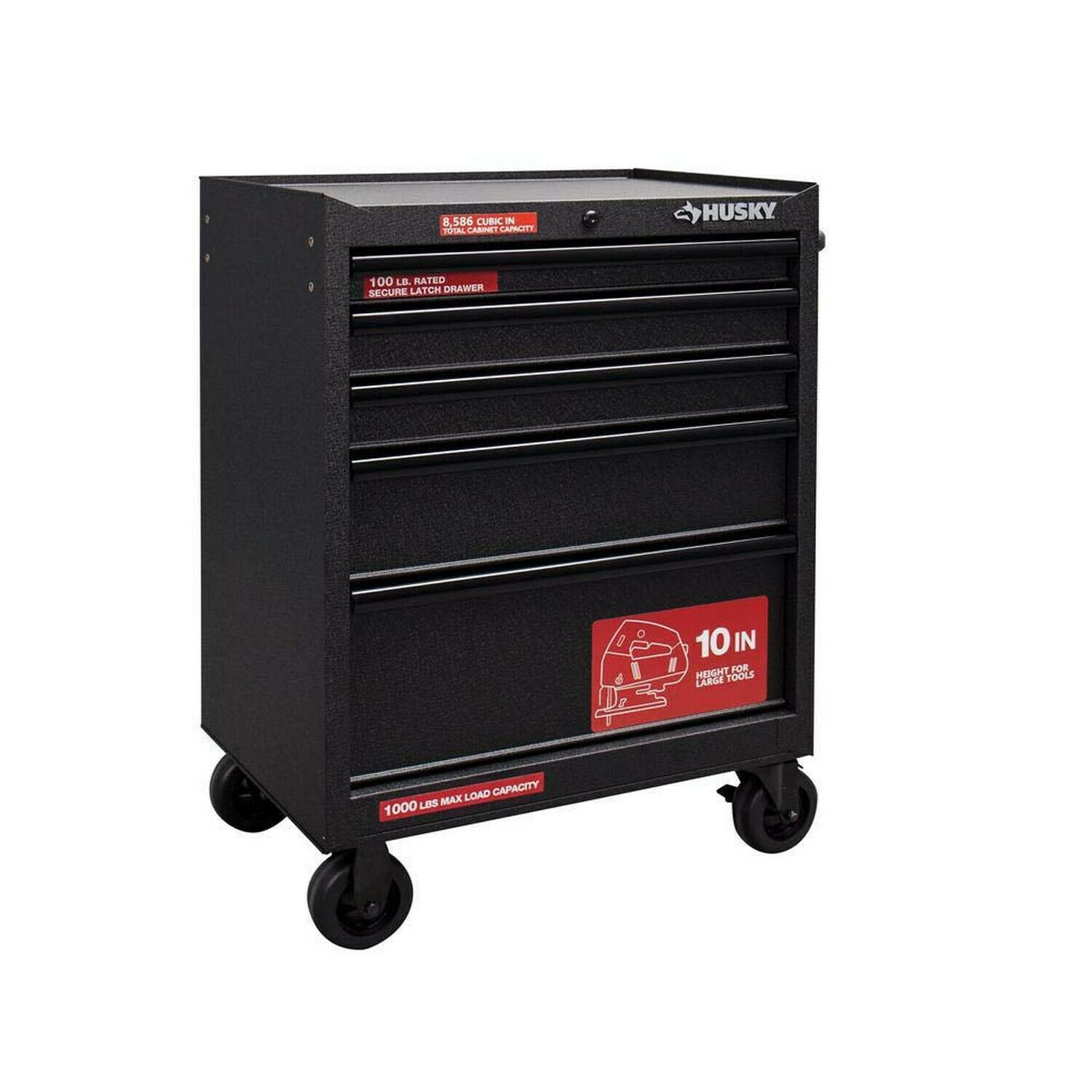 Husky 27 In W 9 Drawer Tool Chest And Cabinet Set Black H5ch2r H4tr2r For Sale Online Ebay