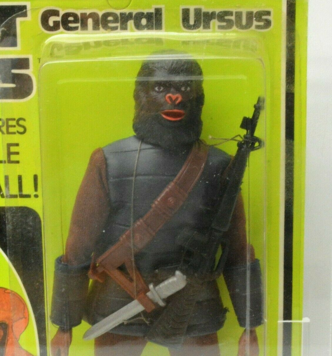 MEGO Planet of the Apes GENERAL URSUS action figure VINTAGE NIP w  Display case