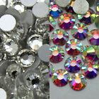 Wholesale 144~14400pcs Gava Flatback Rhinestones Crystal AB/Clear SS3~SS40