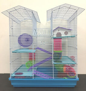 5-Level-Large-Twin-Tower-Syrian-Hamster-Habitat-Rodent-Gerbil-Degu-Mice-Cage