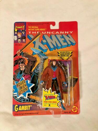 1992 Uncanny X-Men Gambit Power Kick Action Figure Toy Biz Marvel MOC Vintage