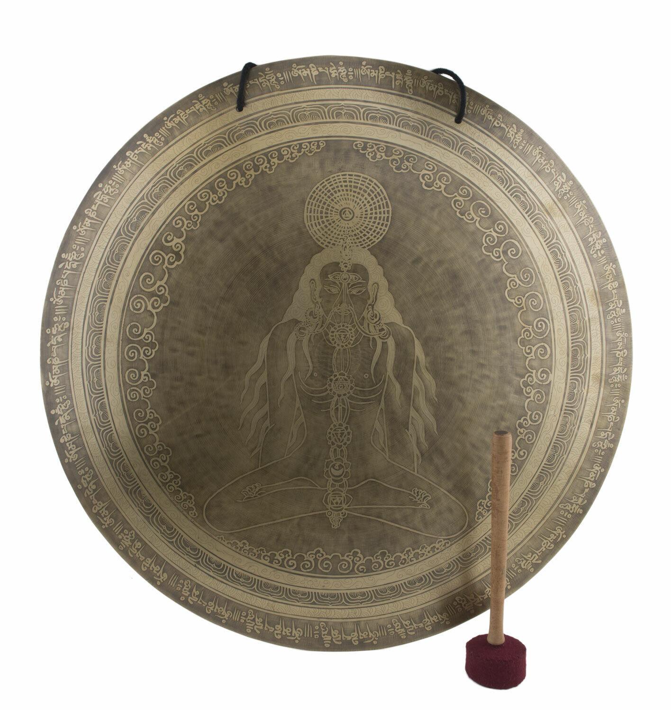 Yogi Chakra Gong Tibetischer 7 Metalle Gehämmert Ø 60 cm 4kg900 Tibet Nepal