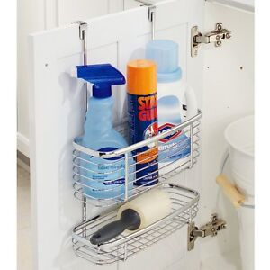 Image Is Loading Storage Baskets Hang Over Cabinet Door Bathroom Kitchen