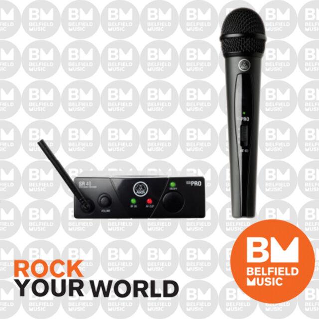 AKG WMS40 Mini Wireless Microphone System Single Vocal Set Band B - WMS-40 - BM