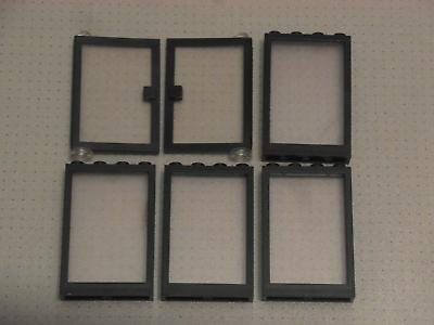Cosciente Lego - 6 X Nero Porte E Finestre Con Vetro Trasparente Borchie - 1x4x5-gmt129-mostra Il Titolo Originale