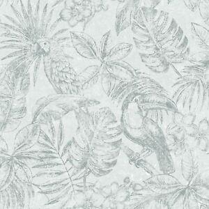 Sankuru-Papier-Peint-par-muriva-Gris-Argent-164501-Tropical-Salons