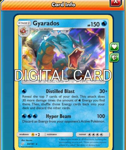 Gyarados Distilled Blast Pokemon TCG Online PTCGO SENTFAST 30//181