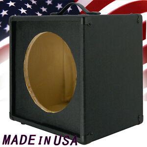 1x12 guitar speaker extension empty cabinet bronco black tolex g112st bbtlx ebay. Black Bedroom Furniture Sets. Home Design Ideas