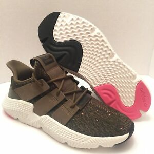 18acc0b00105 Image is loading Adidas-Prophere-Casual-Sneaker-Primeknit-Black-Solar-Red-
