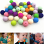 20pcs Round Silicone Teething Beads DIY Baby Teeth Care Jewelry Teether Making