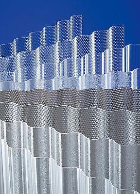 Romantisch Acrylglas Wellplatte ähnlich Plexiglas Acryl Wellplatten 76/18 Wabe Glasklar Baustoffe & Holz Fürs Dach