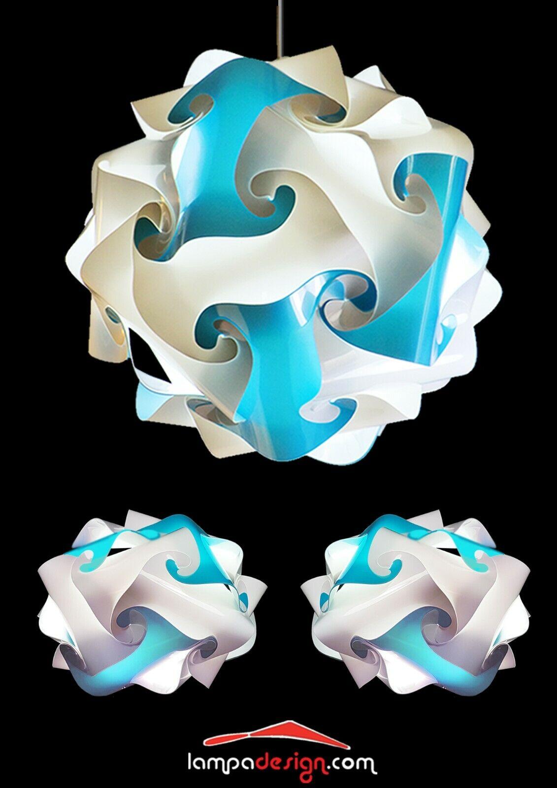 OFFERTA Lampadario design moderno Fiocco+ 2 Lampade comodini Modello Ufo