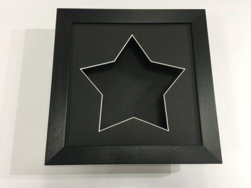 3D deep display//craft//casting cadre noir-choisissez parmi 6 mount couleurs