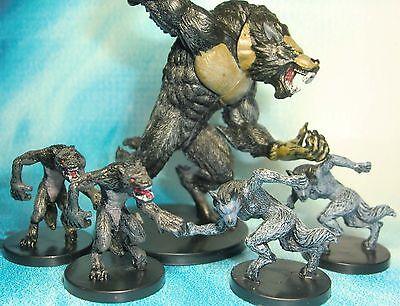 Dungeons & Dragons Miniatures Lot  Werewolf Lord Werewolf Harbinger !!  s112