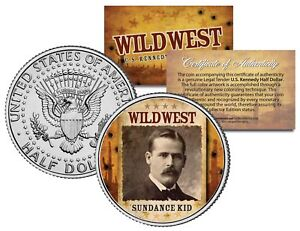SUNDANCE-KID-Wild-West-Series-JFK-Kennedy-Half-Dollar-U-S-Coin