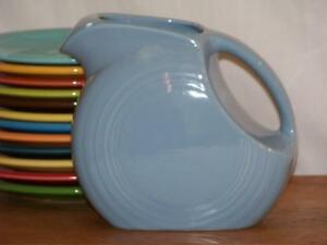 Fiesta-PERIWINKLE-Post-86-Small-JUICE-DISK-Pitcher-Discontinued-Item-amp-Color
