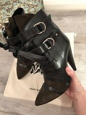 2c14dad4da4 Isabel Marant Leather Ankle BOOTS Size 38 UK 5 ZIPPED Made in Italy ...