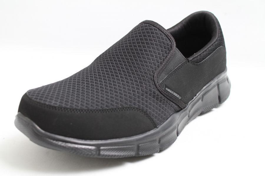 Skechers Chaussures Slipper Noir Textile Memory Foam sportif