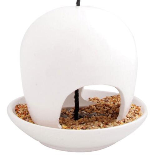 1 von 1 - Esschert Design FB191W Futterhaus Wildvogel Futterstation Keramik weiß, 19x8cm
