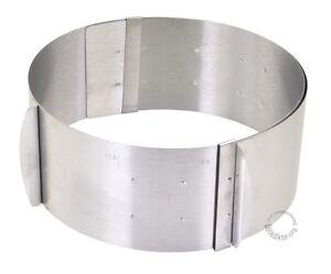 16-30CM Kuchenring Tortenring Kuchen Backrahmen Form Verstellbar Skala Edelstahl