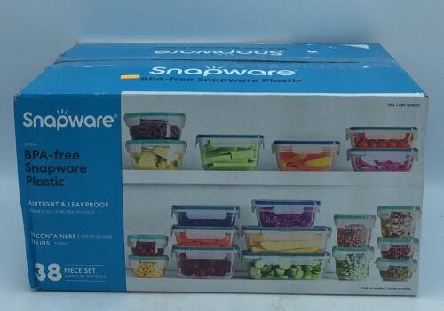 b Snapware 38 pc Plastic Food Storage Set 19 Containers w// Lids Microwave Safe